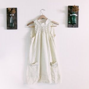 SUGARLIPS CREAM HALTER DRESS